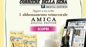 Gratis abbonamento settimanale al Corriere della Sera digitale con Mulino Bianco