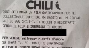 Codice Esselunga per film Chili Tv