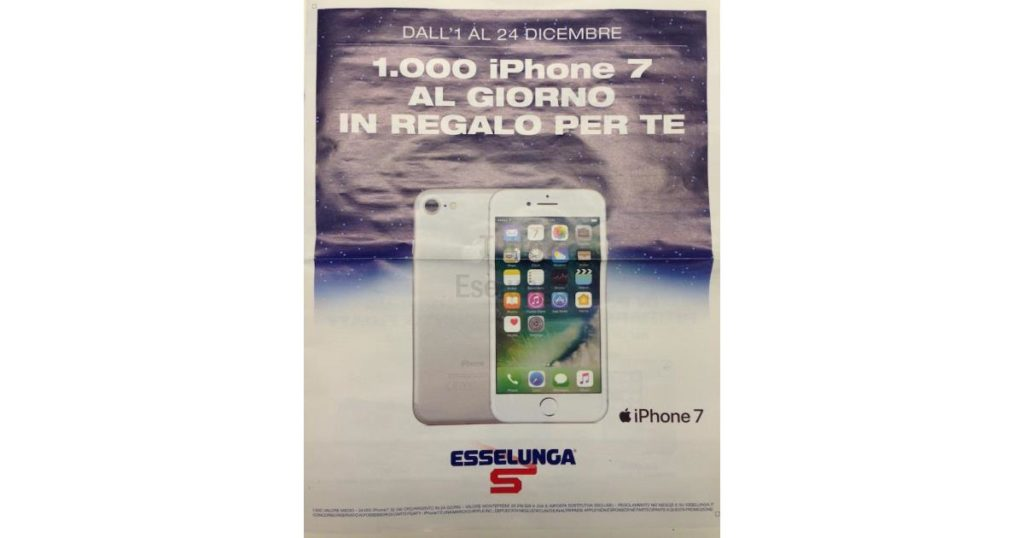Esselunga regala 1000 iPhone Natale 2016