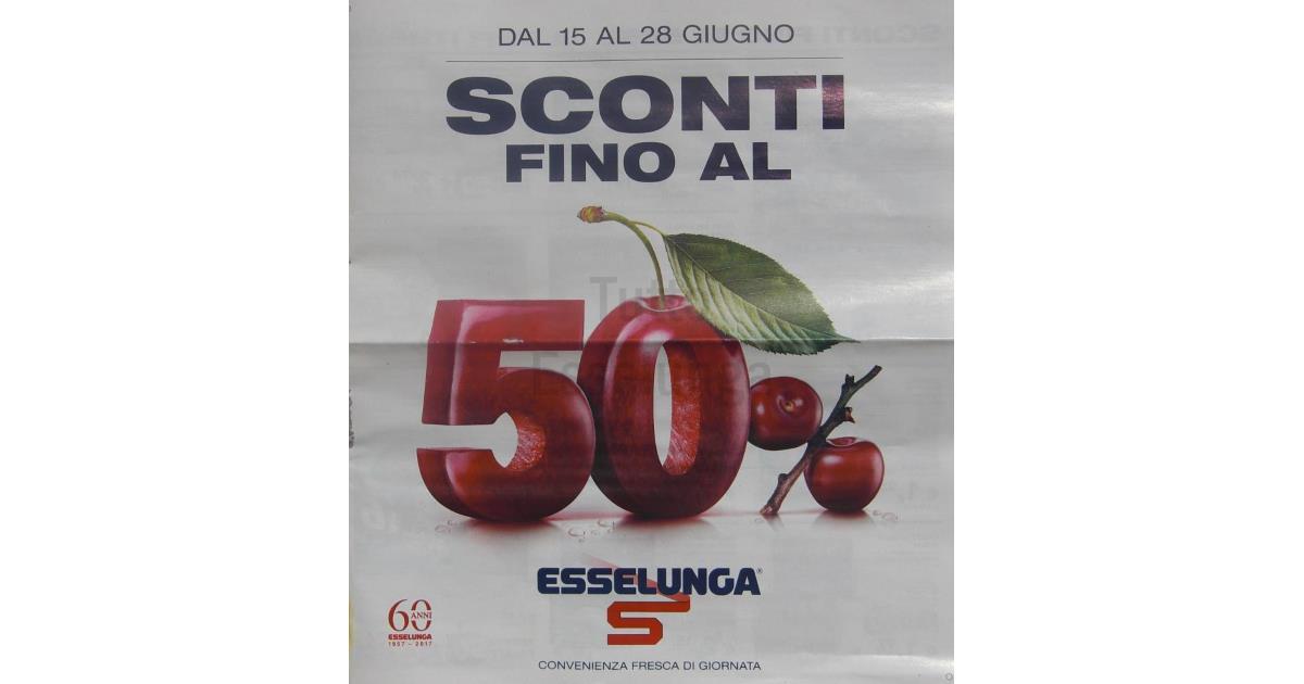 Buoni sconto esselunga agosto 2017 for Esselunga catalogo 2017