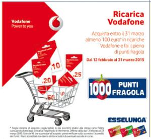 Vodafone ricarica 1000 punti fragola