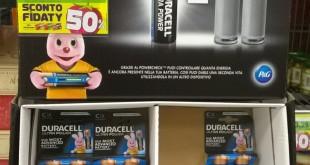 Batterie Duracell in offerta al 50% da Esselunga