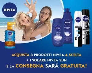 Con Nivea, consegna gratuita spesa esselungaacasa.it