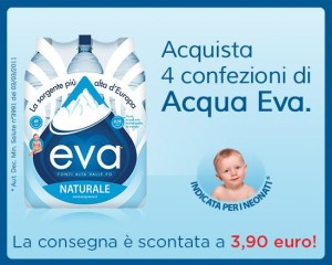 Consegna scontata spesa esselungaacasa.it con acqua Eva