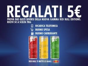 Red Bull ti regala 5€