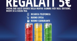 Red Bull ti regala 5€