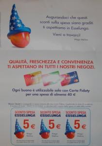 Lettera mago Melino buono sconto Esselunga 5 euro
