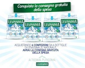 Consegna gratuita spesa con Levissima