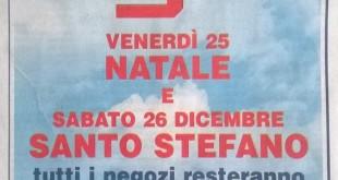 Esselunga chiusa a Natale e Santo Stefano