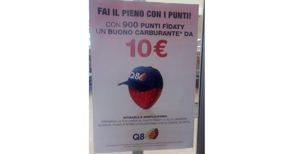 buono sconto benzina Q8 da 10 euro